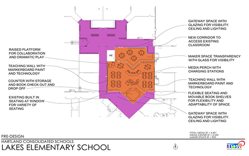Lakes Elementary School STEM Center Concept Drawing
